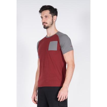 Amnig Men Raglan T Shirt with Pocket